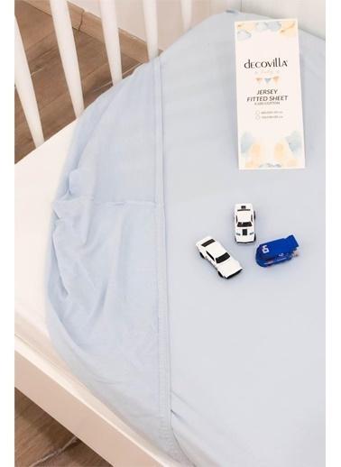 Decovilla Baby 70X140 Lastikli Çarşaf Bebek Mavi %100 Pamuklu Mavi
